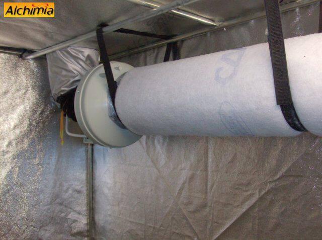 2. Fijamos el extractor y el filtro