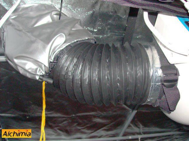 3. Acoplamos el conducto de aire