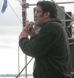 El Dr. Sunil Aggarwal en el Hemp Festival de Seattle (2007)