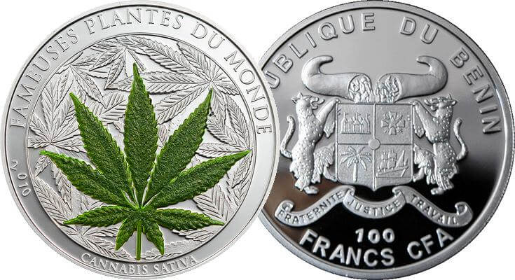 Moneda con olor a Marihuana emitida en Benin
