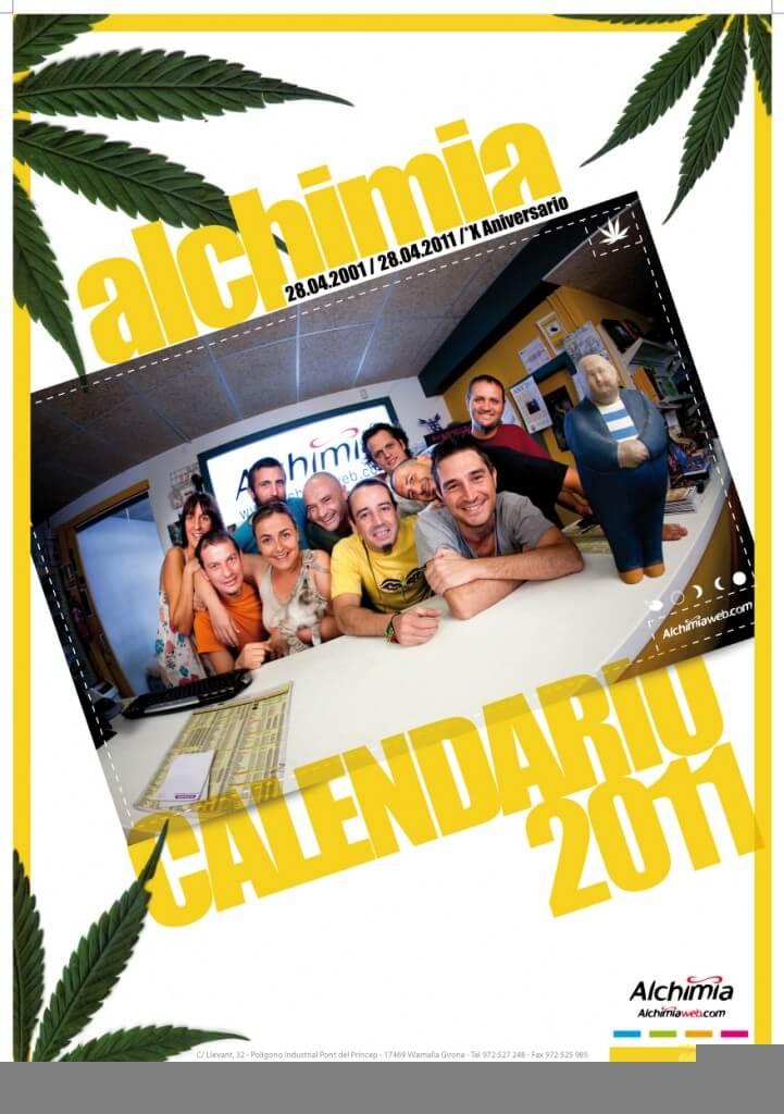 Calendario Alchimia Grow Shop 10 años