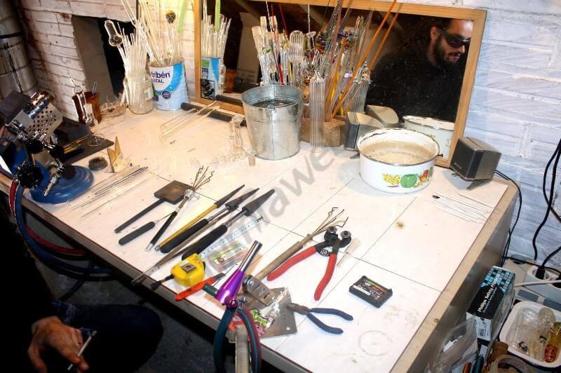 Taller, herramientas y materiales