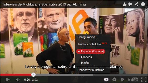 Subtítulos en Ingles, Francés y Español