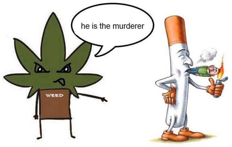 Marihuana contra el tabaco