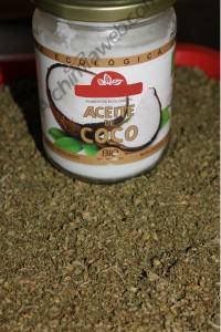 Aceite de coco y marihuana