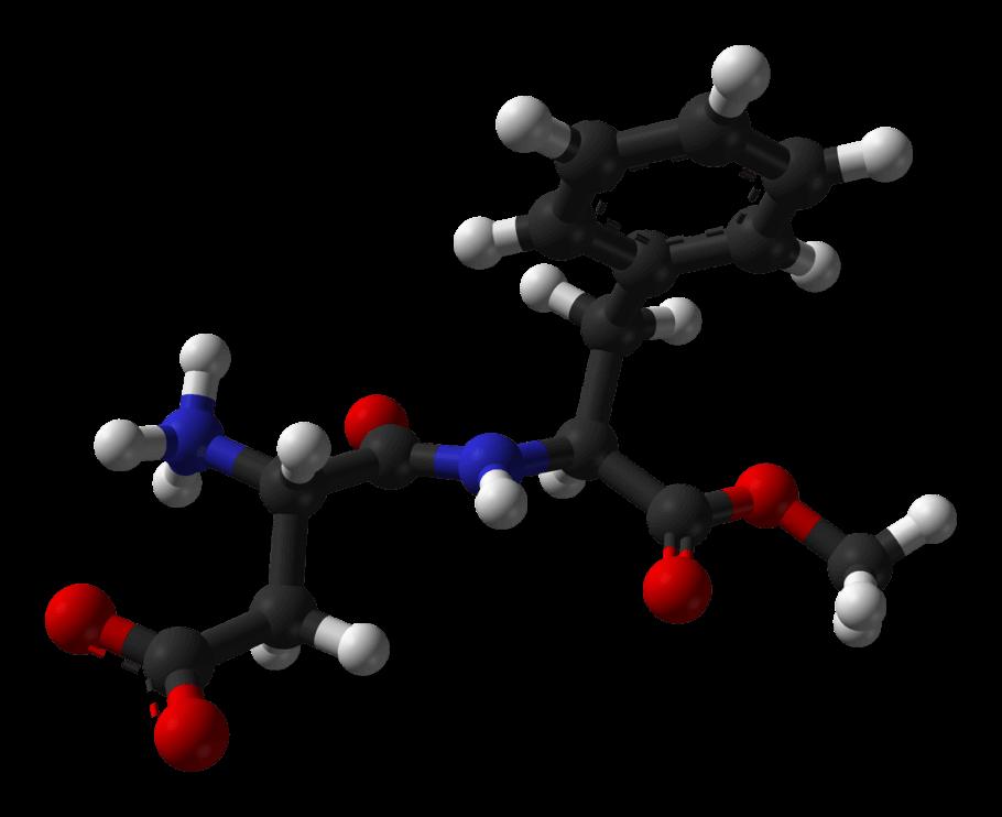 Molécula de aspartamo