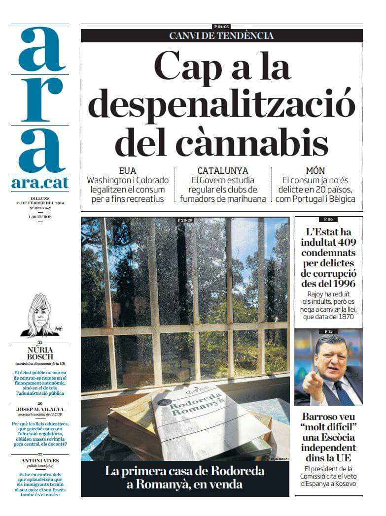 Normalización de la marihuana en USA y Catalunya