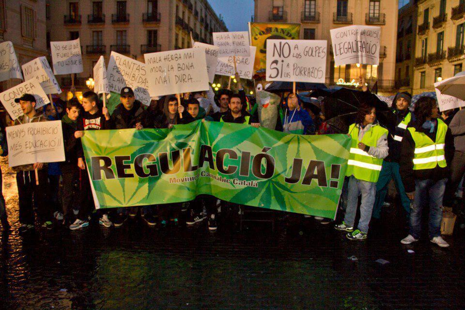 Manifestación pro cannábica en Barcelona (San Canuto 2014)