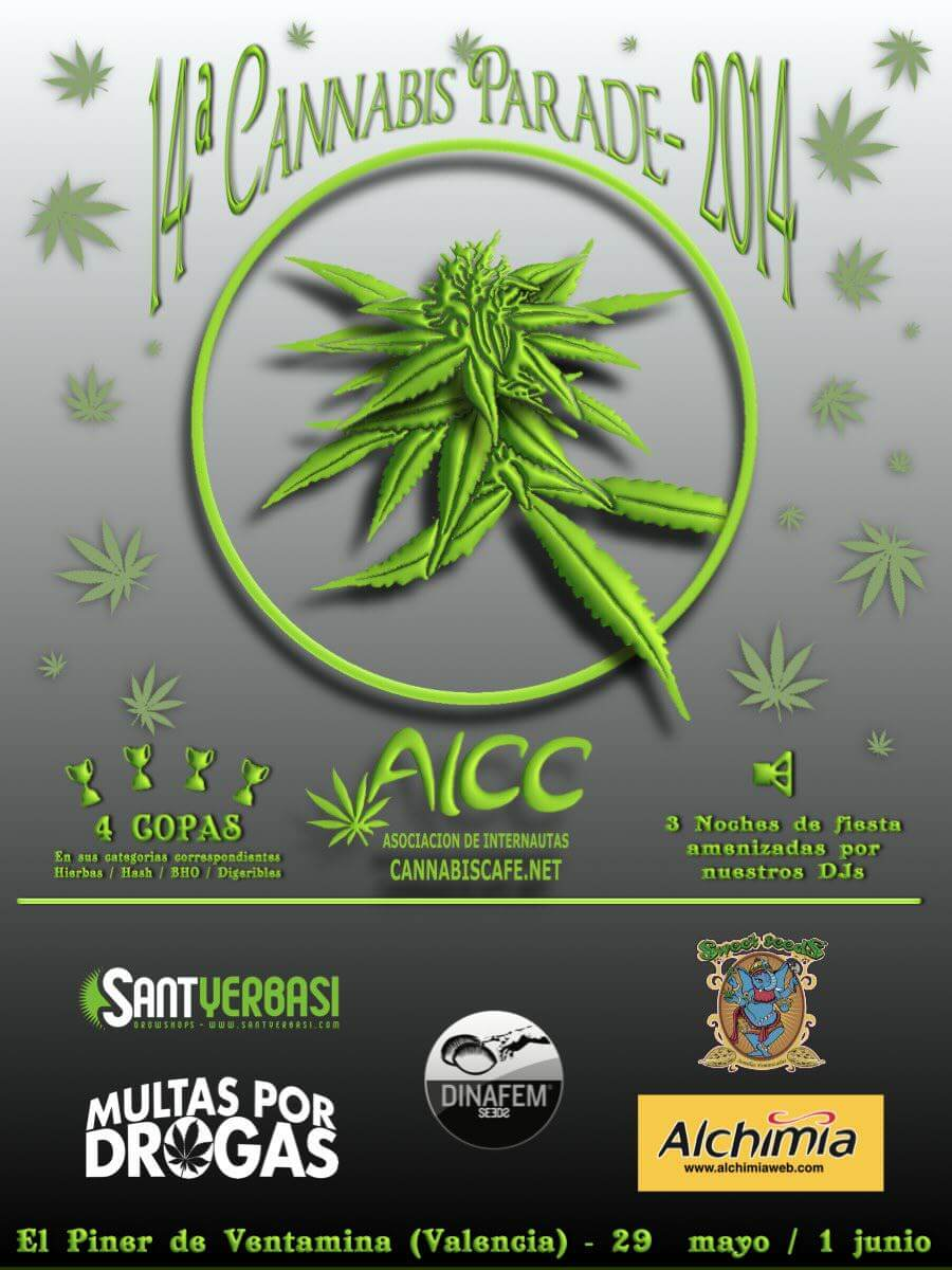 Cannabisparade 2014, la fiesta mayor de Cannabiscafe.net