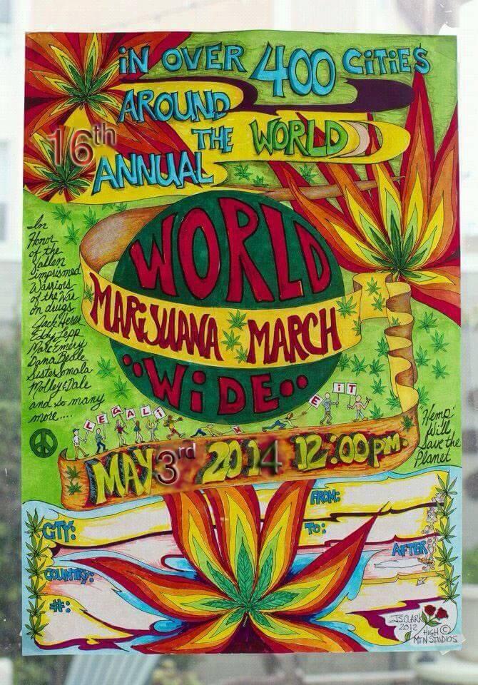 Marcha mundial marihuana 2014 global