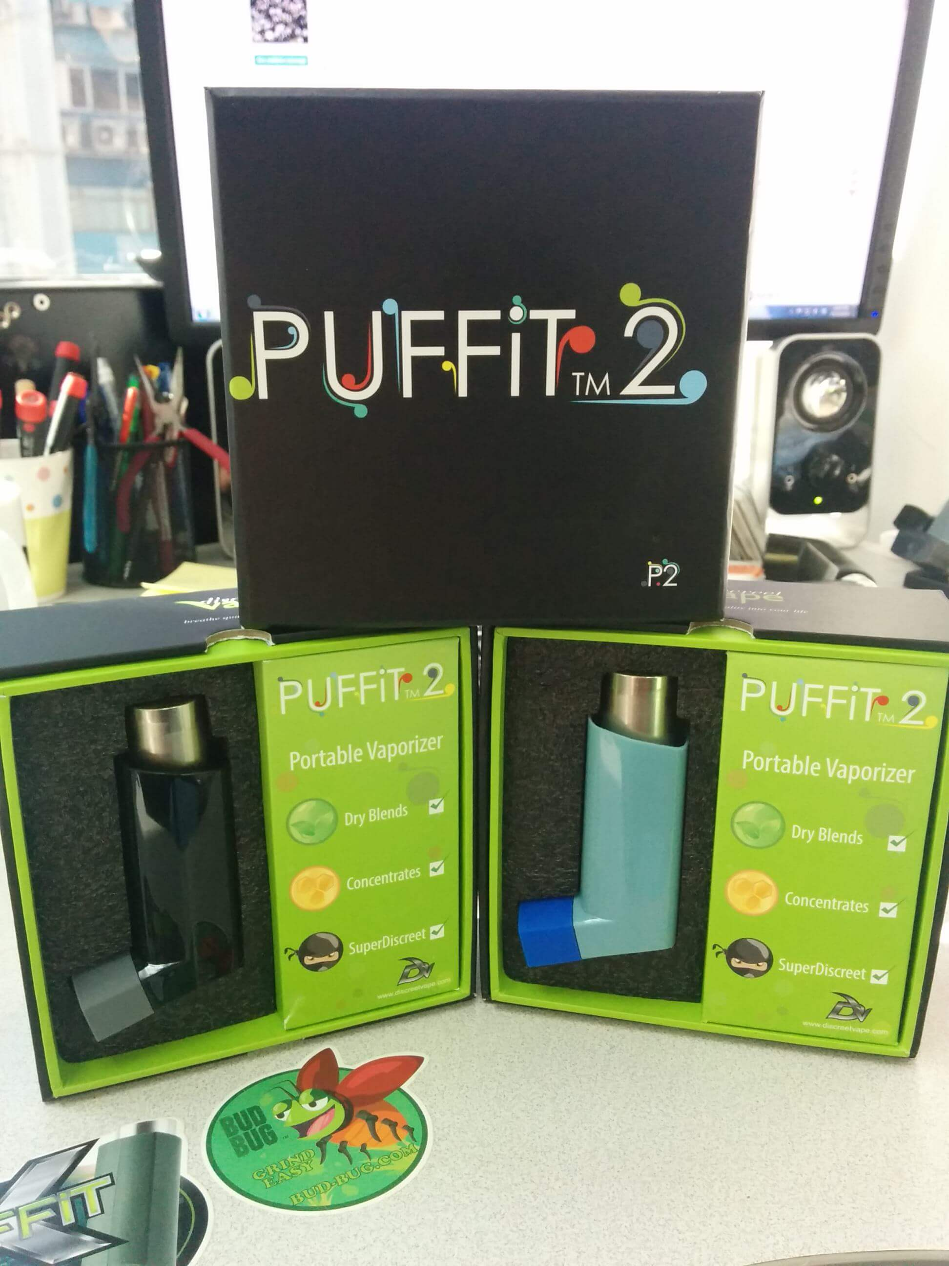 Puffit 2 azul y negro
