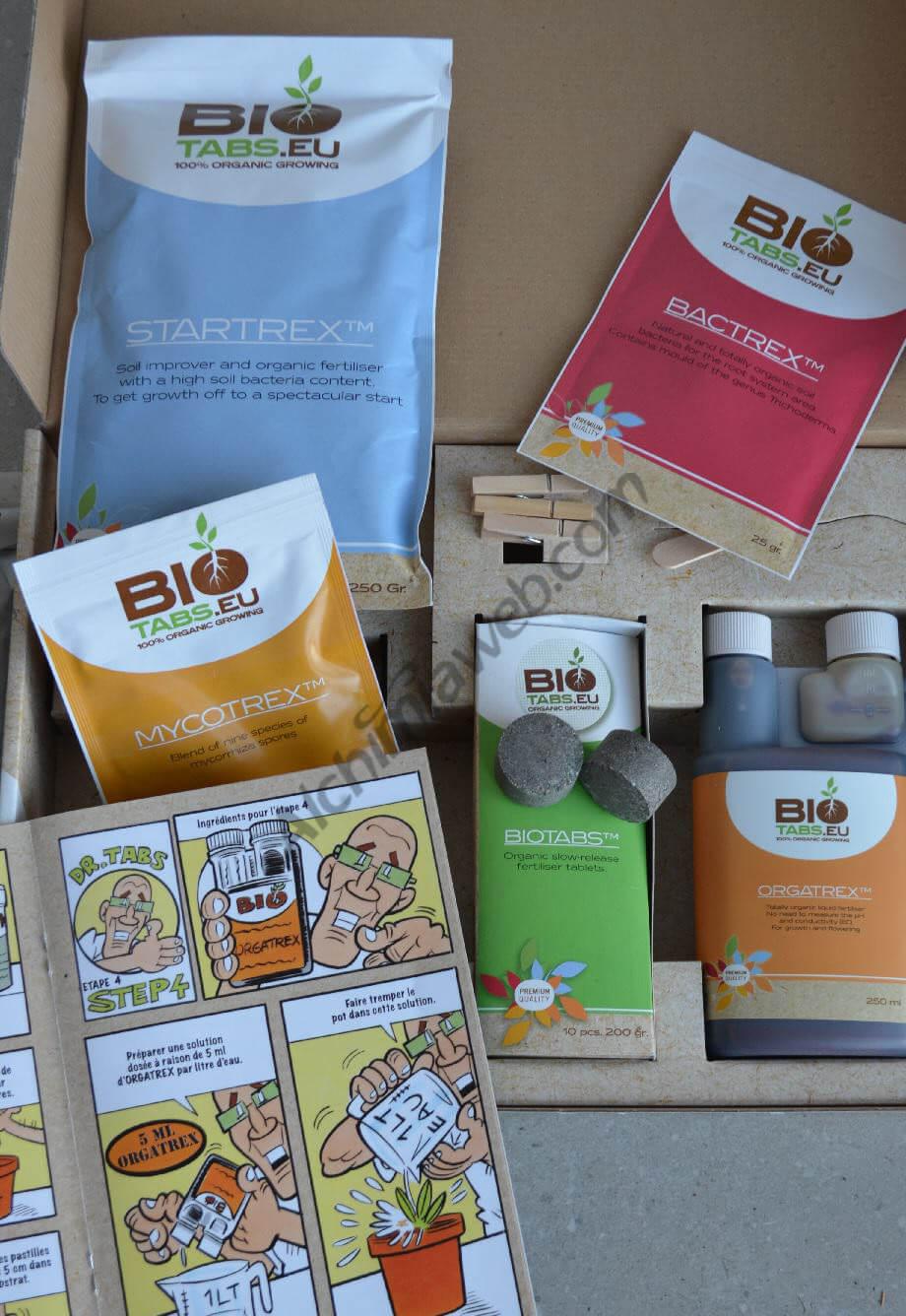 El Kit de nutriente orgánico BioTabs, para cultivar marihuana en coco o en tierra