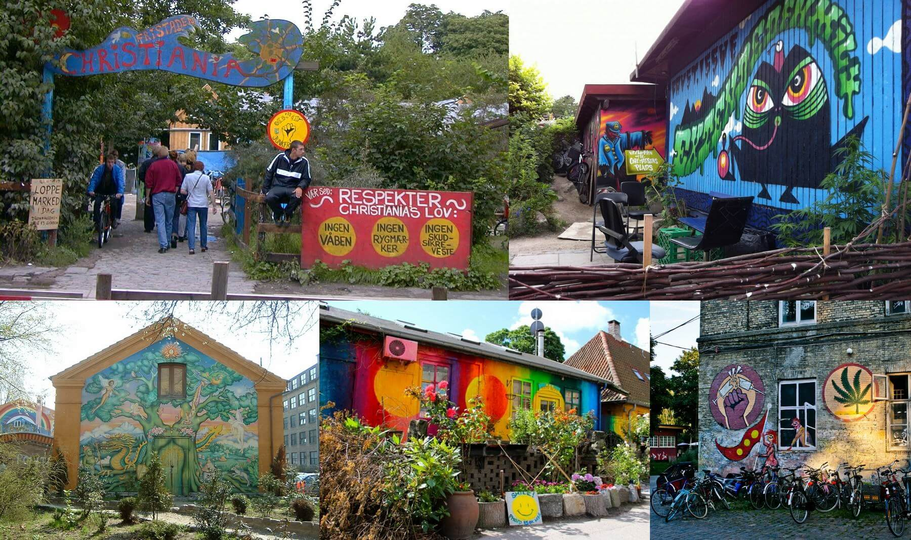 Barrio hippy de Christiana, Copenhague (Dinamarca)