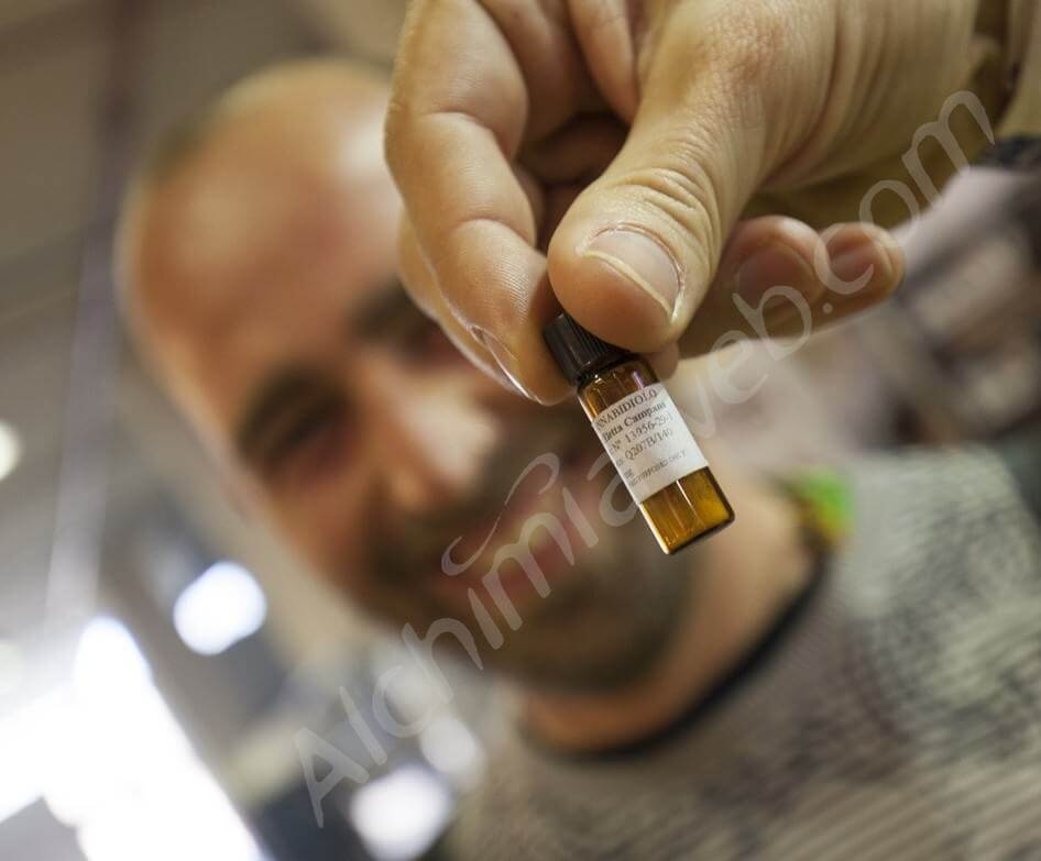 Extracto de CBD cristalizado