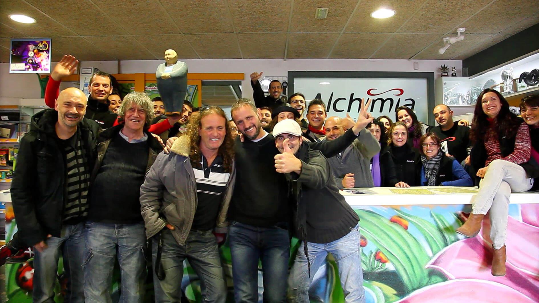 Visita de Mr. Nice y Shantibaba a Alchimia Grow Shop