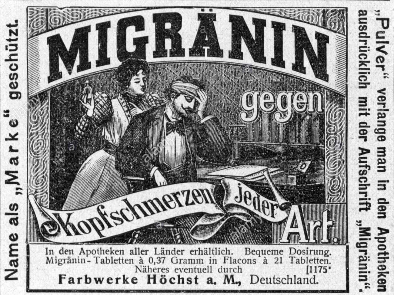 velho Medicação contra enxaquecas, baseado em maconha