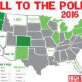 Carta de la legislación del cannabis en Estados Unidos el 8 de noviembre