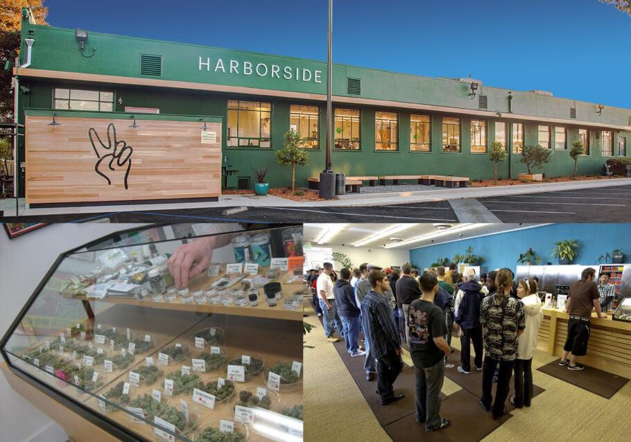 El Harborside es el mayor centro dispensario de cannabis del mundo