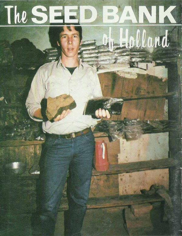 Neville en la portada del catálogo de semillas de The Seed Bank