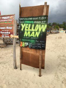 Anuncio del concierto de los King Yellow Man