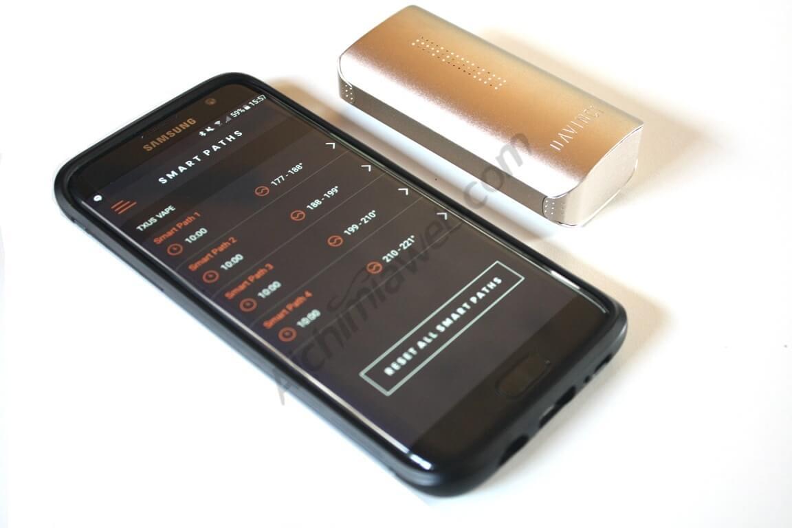 control total del vaporizador mediante el mobil