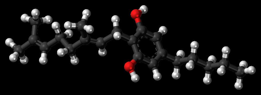Molécula de CBG (cannabigerol)