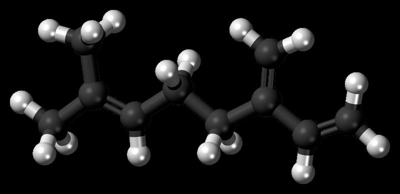 Molécula de mirceno