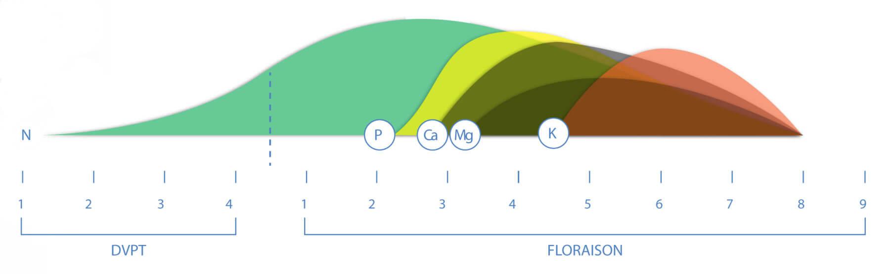 Grafico de Aptus nutrición plantas de marihuana
