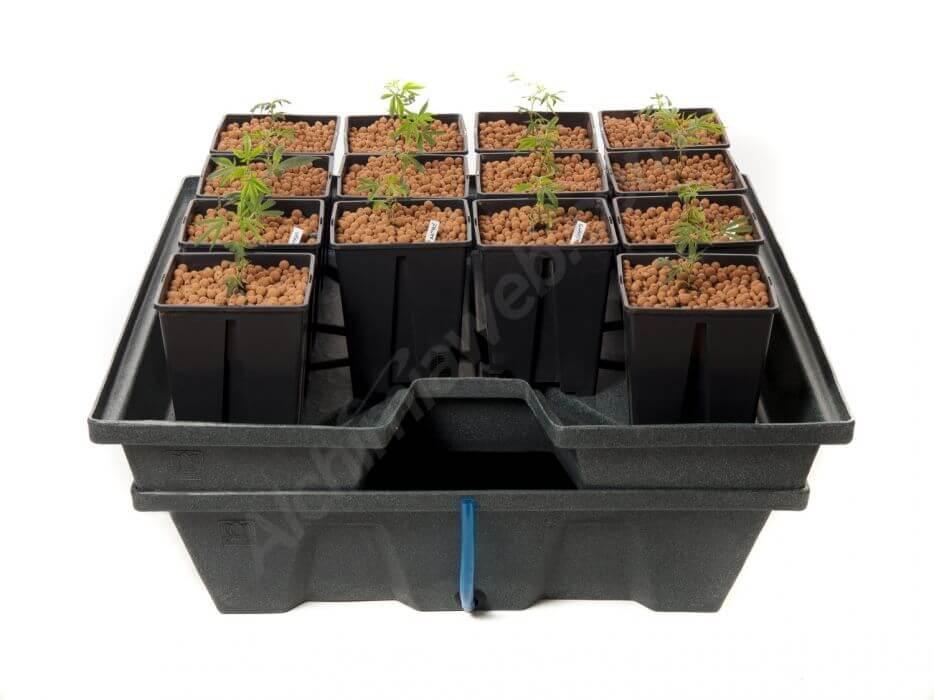 sistema de recirculación de GHE Ebb&grow