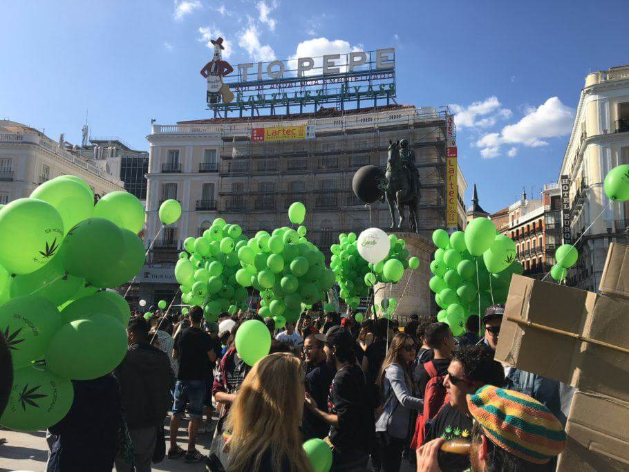 La manifestación recorrió una zoma emblemática de Madrid