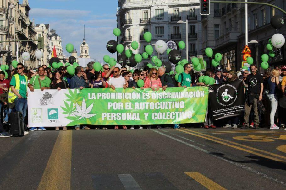 Marcha Mundial de la Marihuana 2018 en Madrid