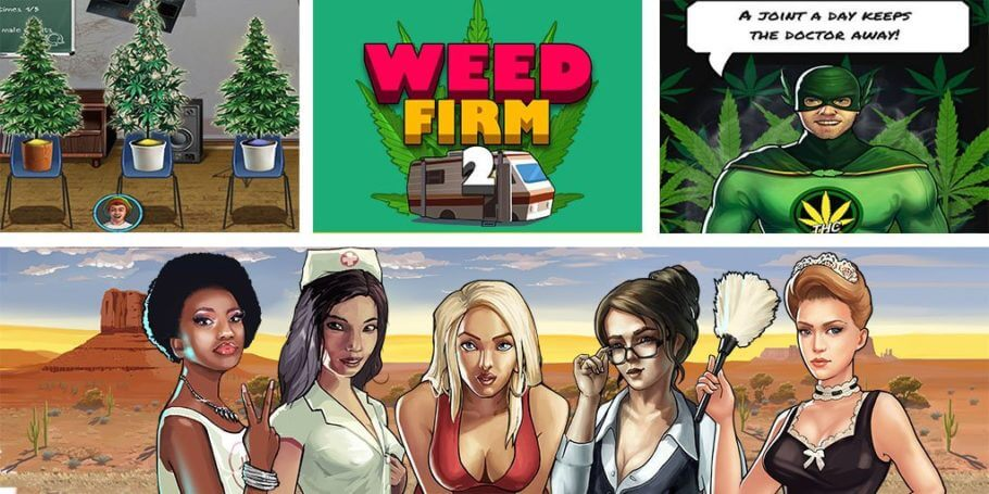 Weed Firm 2: Back to College es un divertido juego de cultivo de cannabis y setas