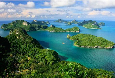 El golfo de Tailandia no sólo ofrecía buenas vistas a los viajeros