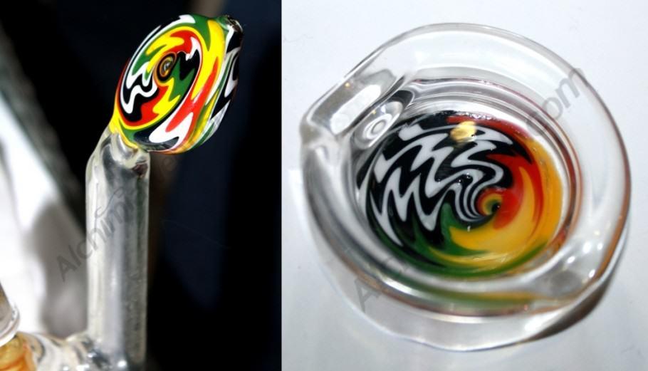 Bubblers de vidre Red Bubble Glass