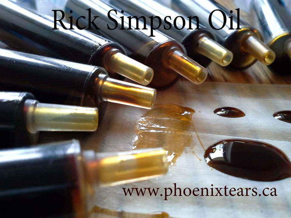 Oli de marihuana de Rick Simpson, a punt per a l'ús
