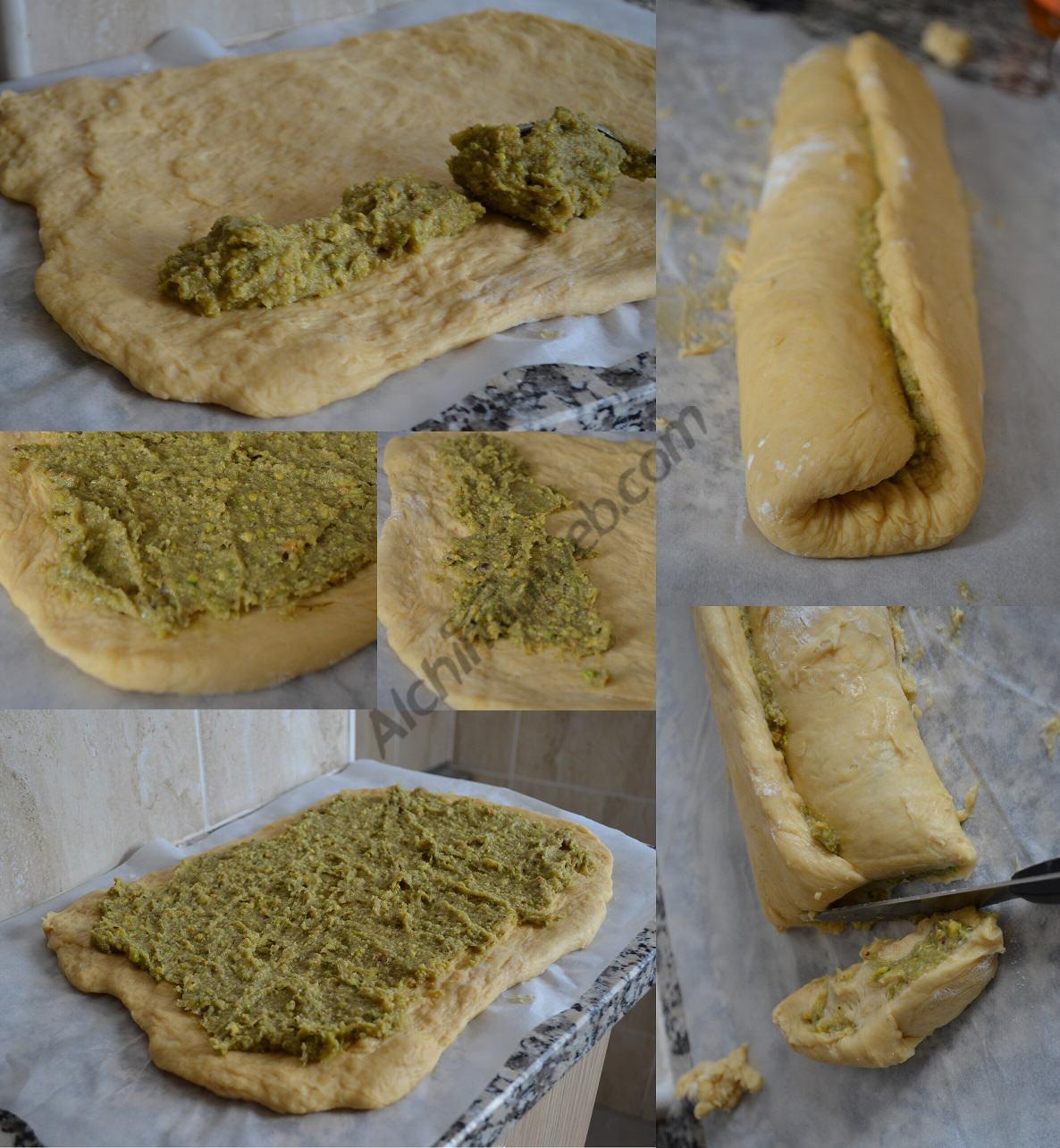 Folrant el brioix amb la crema de cànnabis