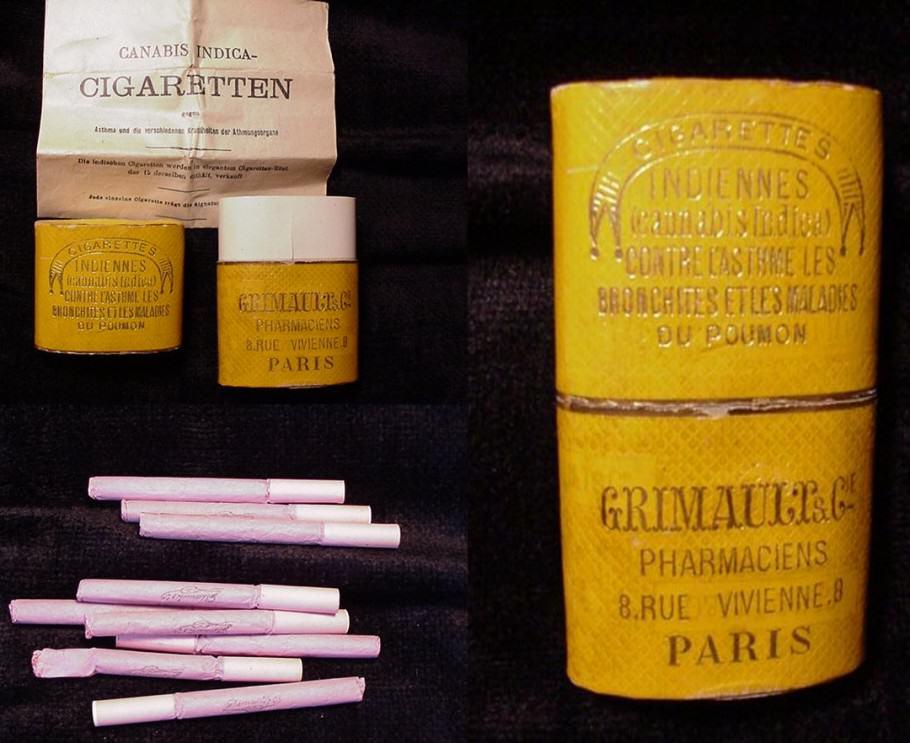 Cigarrets de marihuana, distribuïts en les farmàcies franceses no fa molt de temps ...