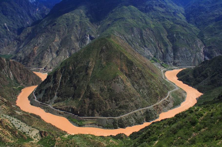 El riu Yangtze (Xina), una de les possibles zones d'origen de la marihuana