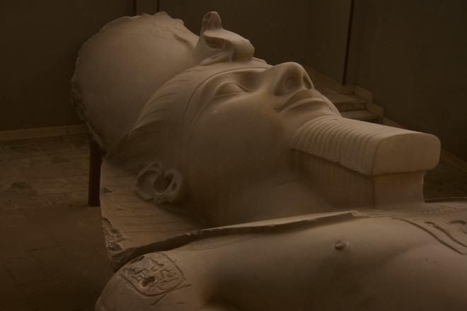Estàtua de Ramses II en el museu de Mit Rahina (Foto: Santiago Samaniego)
