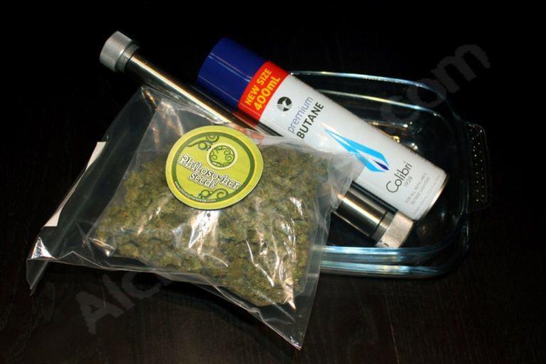 Material necessari per a l'extracció d'oli de marihuana BHO