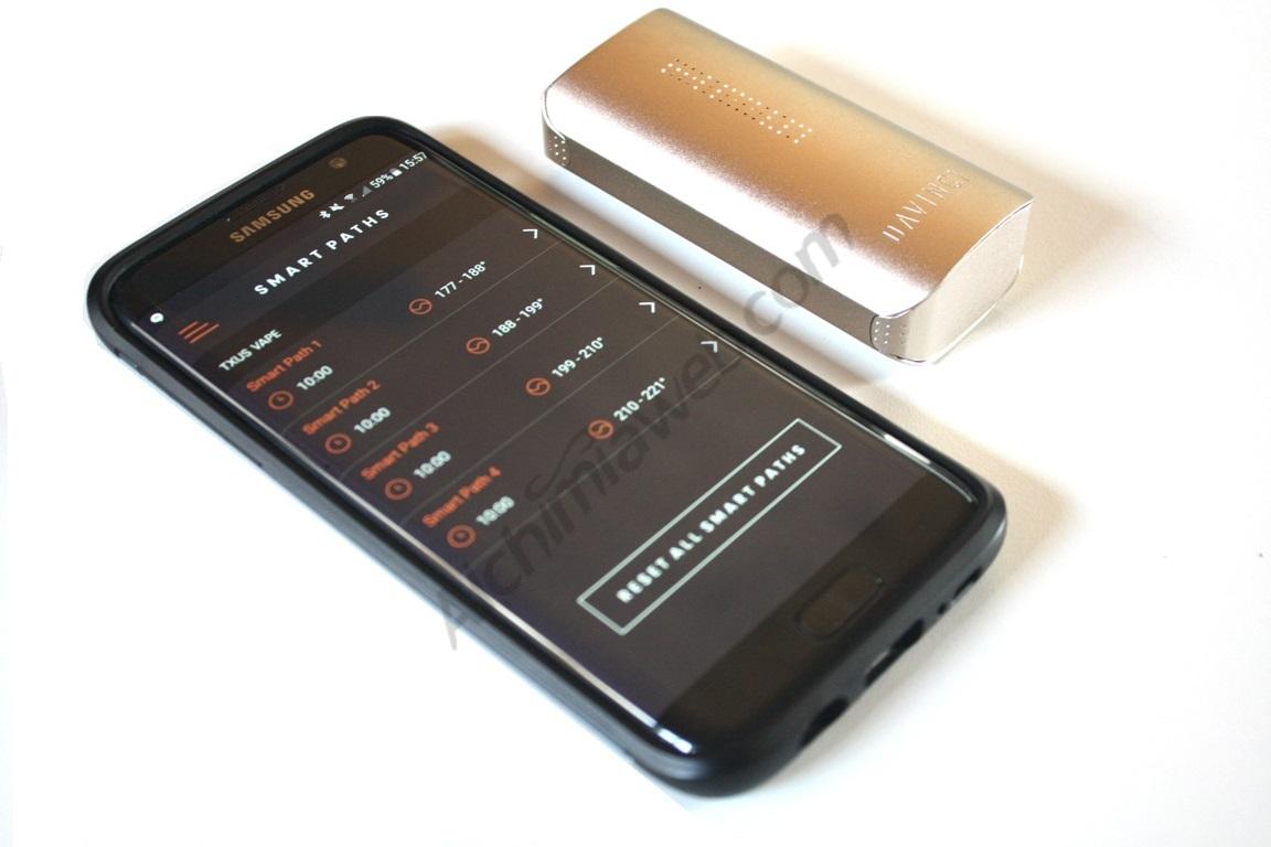 Control total del vaporitzador mitjançant el mòbil