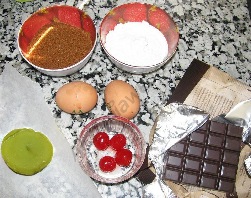 Ingredients per als Space Muffins de xocolata