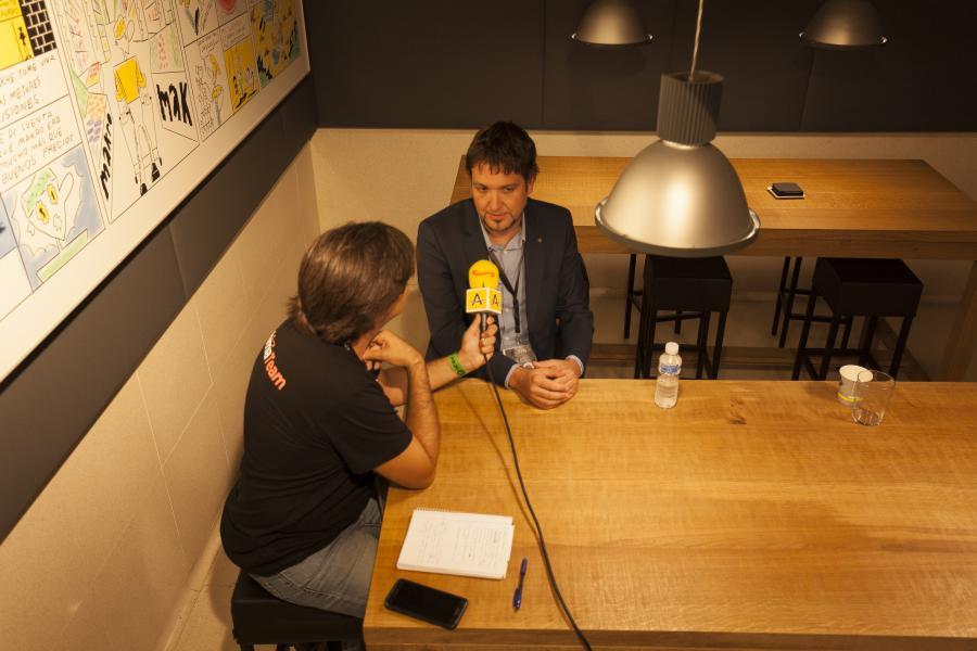 Entrevistant a Guillermo Moreno