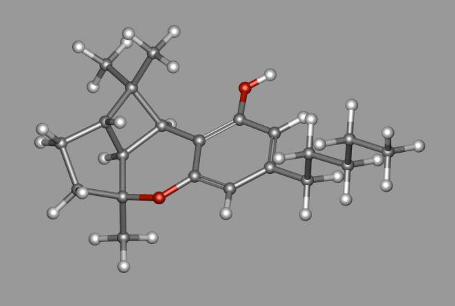 Molècula de CBL o Cannabiciclol (Foto: Wiki Commons)
