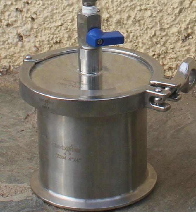 La vàlvula del recuperador ha d'estar sempre en posició tancada quan el sistema no està en servei