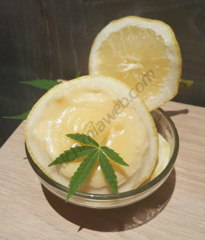 "Crema de llimona ""Lemon Curd"" enriquida amb cannabinoides"