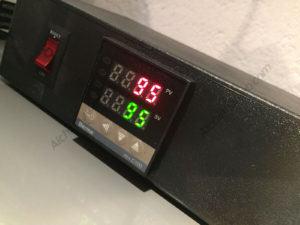 Pantalla del controlador de temperatura