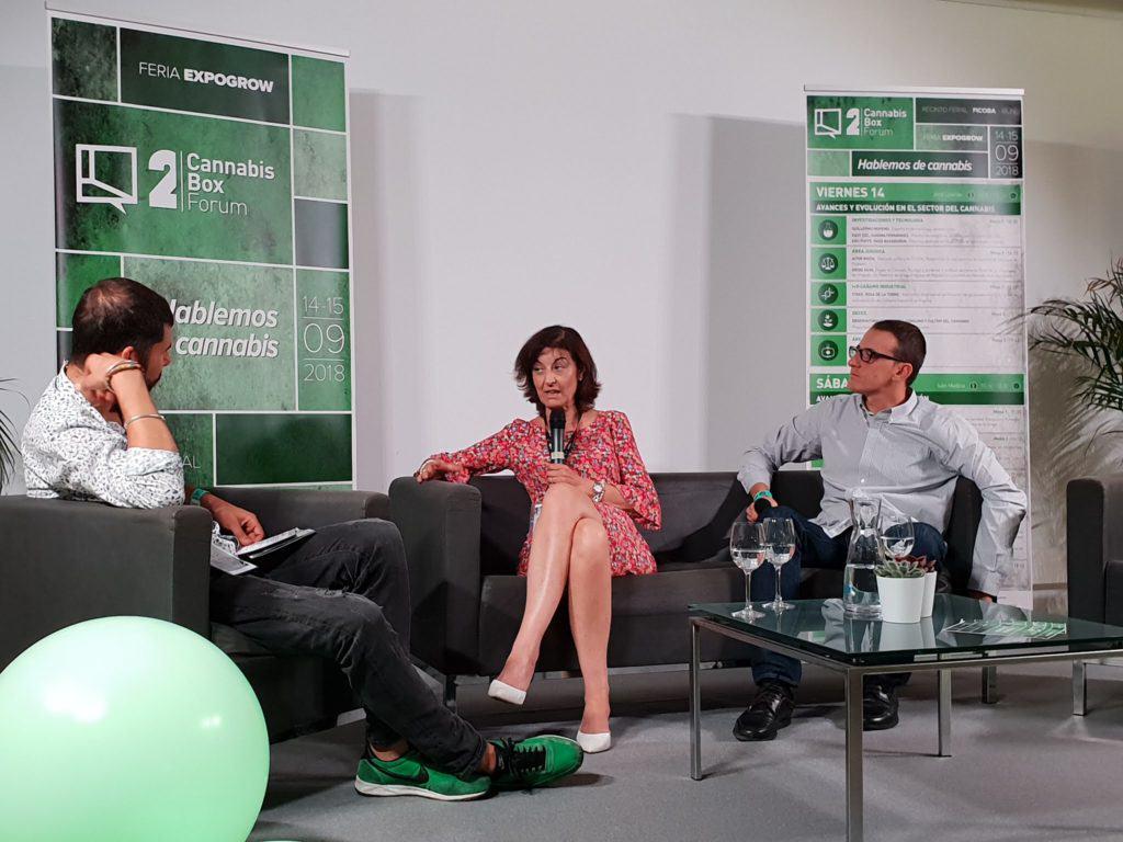 Araceli Manjón i Bernardo Soriano al Cannabis Box Fòrum