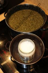 Hydration of marijuana and liquefaction of coconut oil