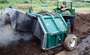 Aerating the compost